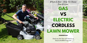 Gas vs Electric Cordless Lawn Mower